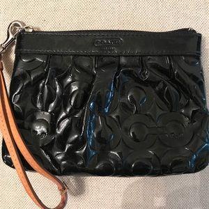 Coach patent leather wristlet